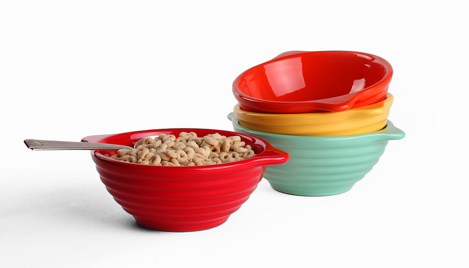 lug handle bowl red_set